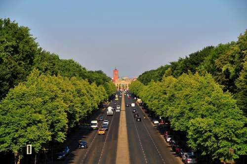 Berlin Capital Germany City Sky Road