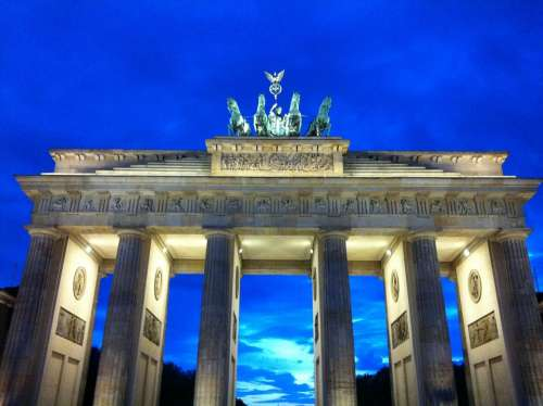 Berlin Brandenburg Gate Dusk