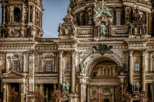 Berlin Cathedral Building Architecture Berlin Dom