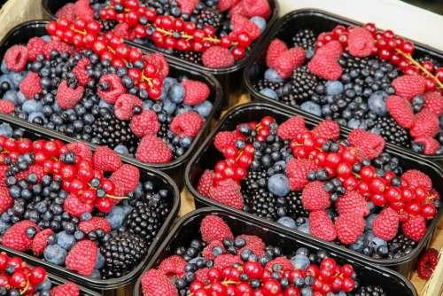 Berries Raspberries Fruits Red Vitamins