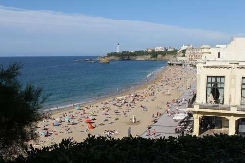 Biarritz Beach Sea Vacations Atlantic