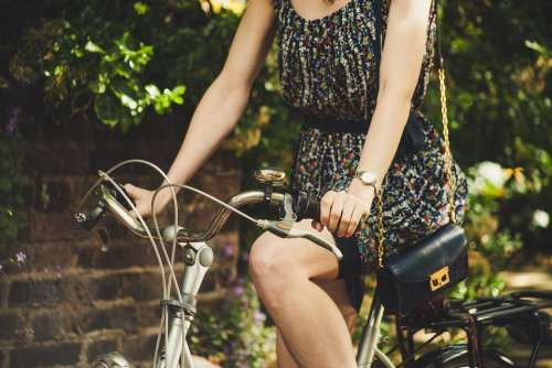 Bicycle Bike Casual Fashion Model Outdoor Person