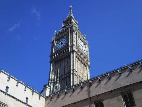 Big Ben Clock London Tower England British