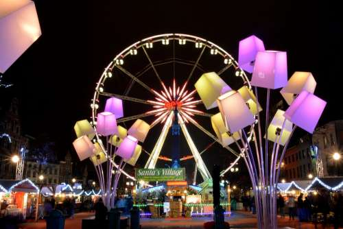 Big Wheel Atmosphere Lamps Light Lighting