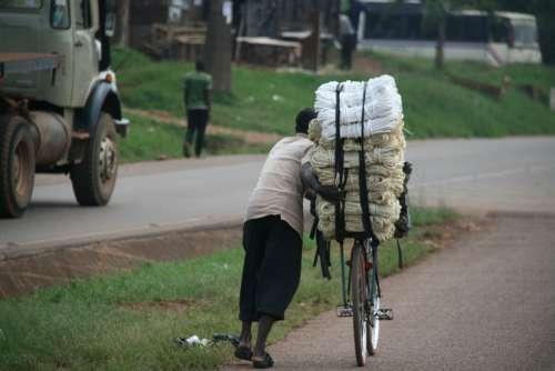 Bike Cargo Transport Africa Uganda Work Force
