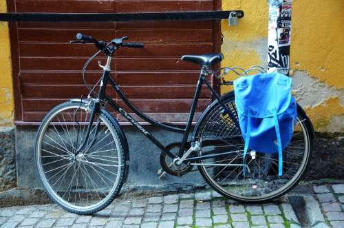 Bike Bicycle Transport Black Wheel Speed Road