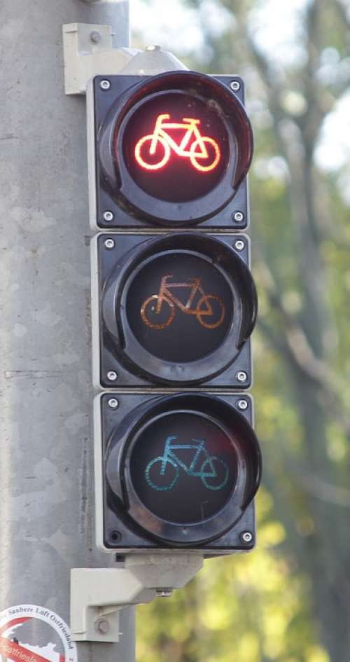 Bike Lights Traffic Lights Red Traffic Signal