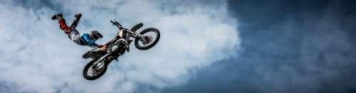 Biker Motorcycle Dirt Extreme Bike Ride Sport