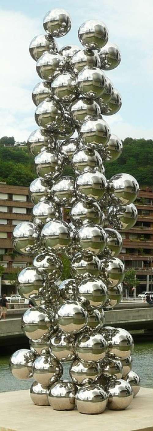 Bilbao Balls Guggenheim Art Artwork Abstract