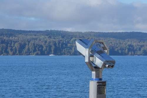 Binoculars Lake Constance Lake View Telescope