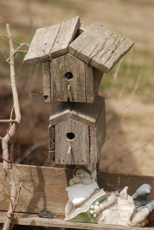Bird Bird House Rustic Birdhouse Handmade Shelter