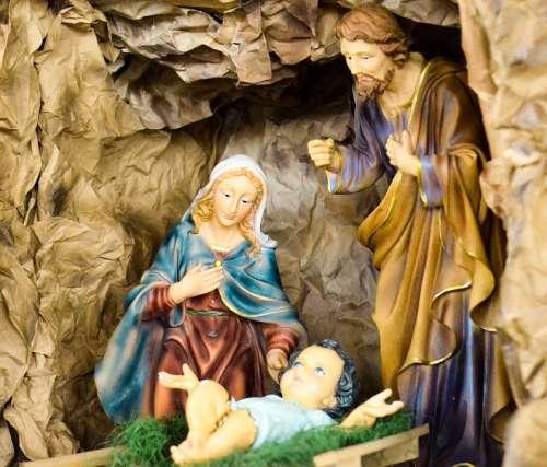 Birth Jesus Manger The Holy Family Catholic