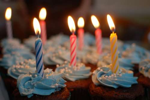 Birthday Cake Cake Birthday Cupcakes Candles Party