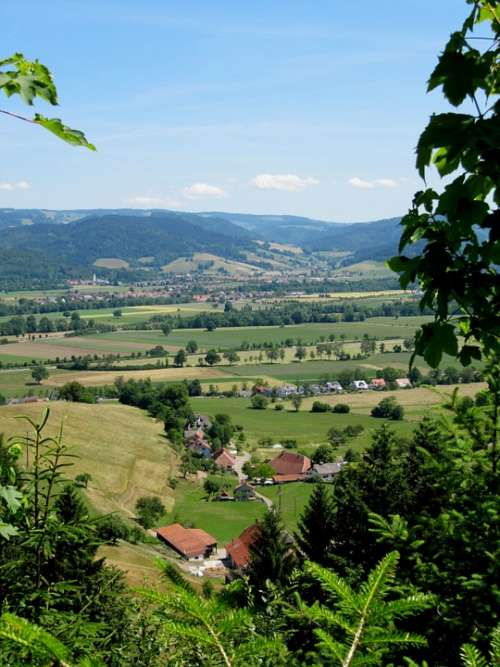 Black Forest Landscape Haley Mountain View Germany