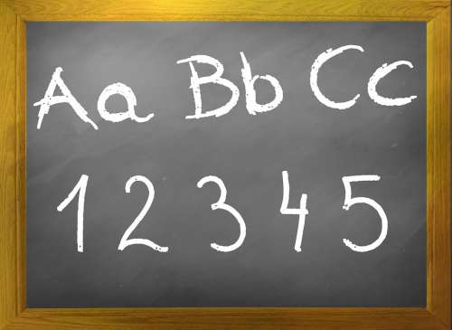 Blackboard Abc Chalkboard Board Back To School