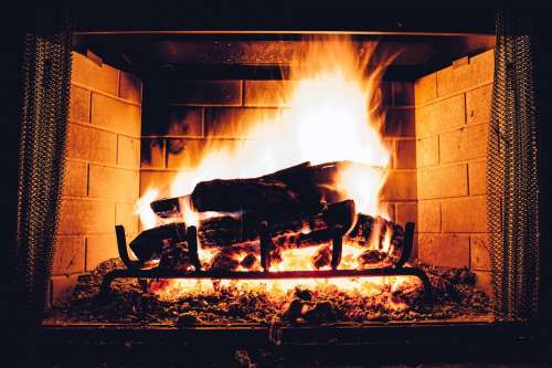 Blaze Fireplace Bonfire Burn Coal Cozy Danger