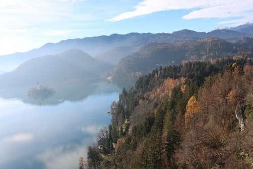 Bled Slovenia Lake Church Water Castle Travel