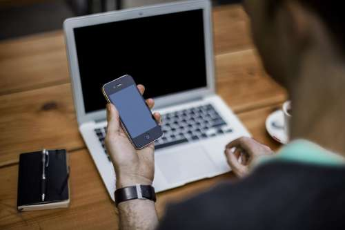Blogger Cellphone Office Business Notebook