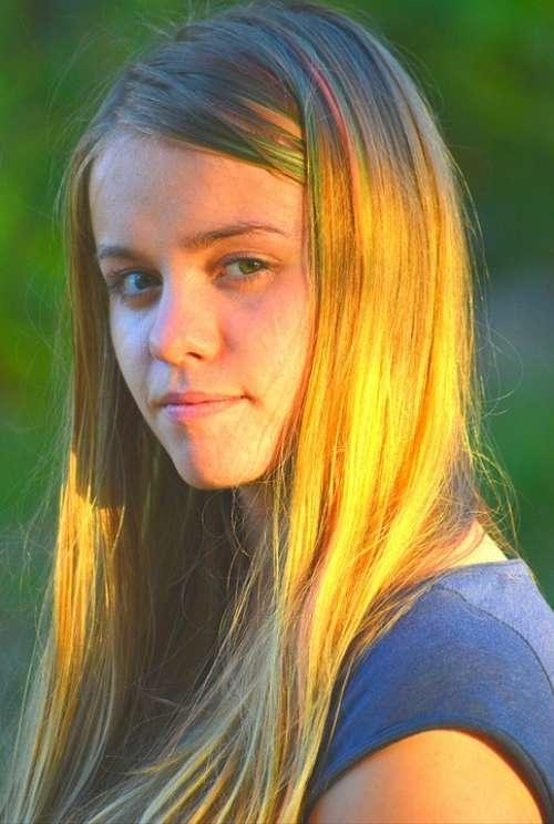 Blond Beautiful Beauty Blonde Woman Lady Girl