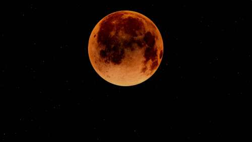 Blood Moon Moon Lunar Eclipse Moonlight Night