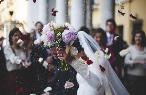Bloom Blossom Bouquet Bride Ceremony Couple