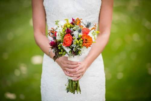 Bloom Blossom Bouquet Bride Flora Flowers Girl