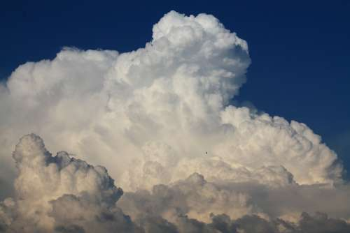 Blue Sky Cumulus Cloud Summer Thunderhead