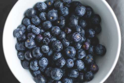 Blueberries Healthy Berries Fruit Bowl Blueberry