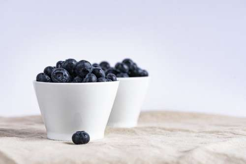 Blueberry Berries Fruit Cups Food Nutrition
