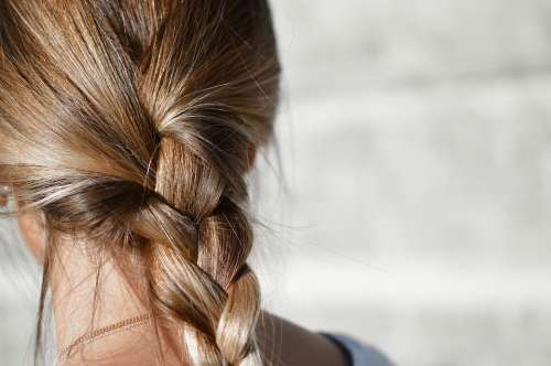 Blur Braided Hair Brunette Close-Up Fashion Female