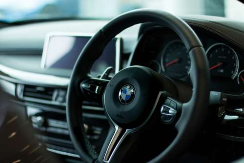 Bmw Steering Wheel Vehicle Transport Transportation