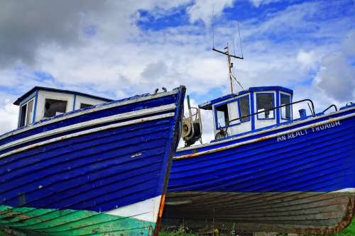 Boat Blue Timber Paint Sky Nautical Fishing