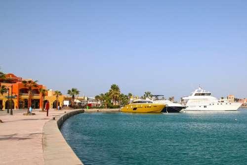 Boat The Red Sea Egypt Ship Port Hurghada Ships