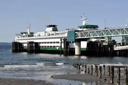 Boat Ferry Edmonds Washington State Commuter