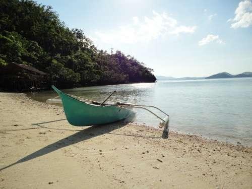 Boat Paradise Beach Aqua Sea Tropical Water