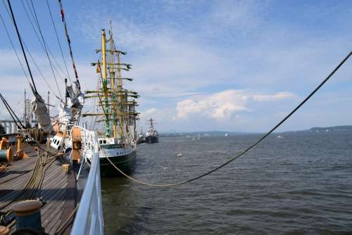 Boats Sea Water Sky Blue Ship Calm