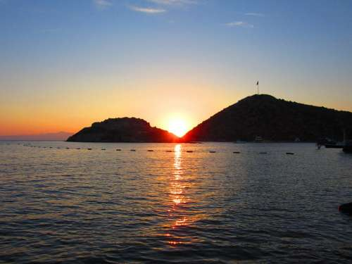 Bodrum Turkey Beach Sunset Nature Water Sea Sun