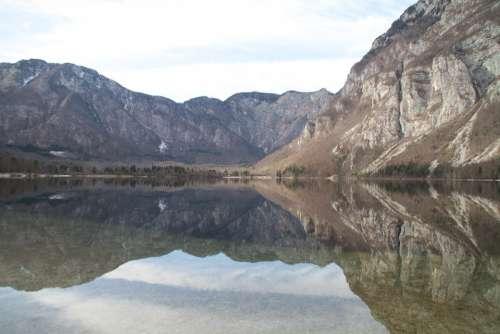 Bohinj Lake Slovenia Mountains