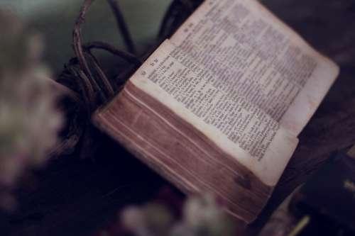Book Bible Scripture Religion Religious Open Bible