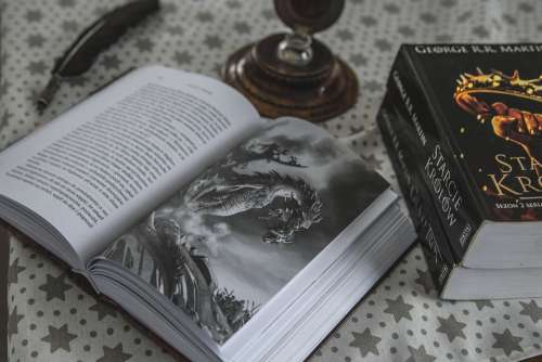 Book Dragon Game Of Thrones Pen Image Picture
