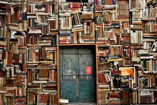 Books Door Entrance Culture Library Knowledge