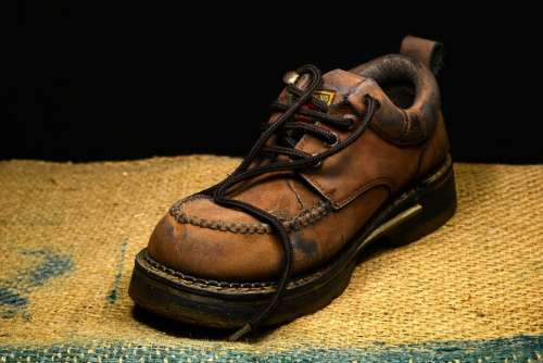 Boot Leather Shoe Old Shoestrings Shoelaces