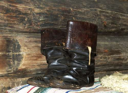 Boots Shoes Old Garment Clothing Leather Wood