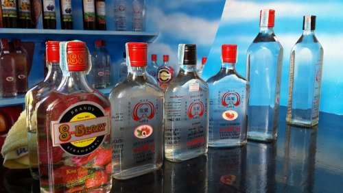 Bottle Glass Bottle Drinks Alcohol Thai Beverage