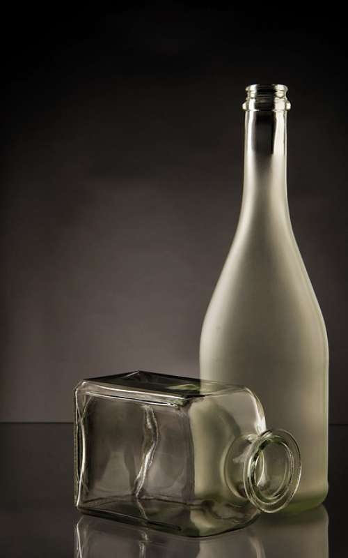 Bottles Glass Elegant Style Transparent Empty
