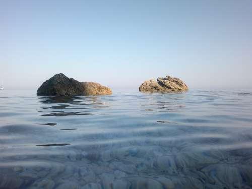 Boulders Water Rocks Sea Italy