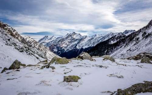 Bouleste Pyrénées Mountain Snow Sky