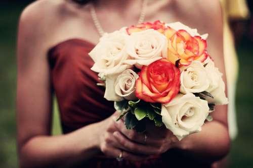 Bouquet Bouquet Of Flowers Roses Bridesmaid