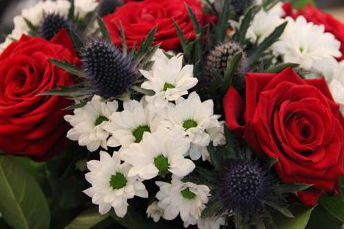 Bouquet Commemoration Blue White Red France