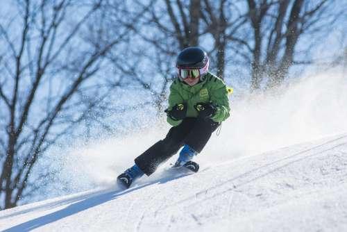 Boy Ski Skiing Cold Goggles Kid Person Snow